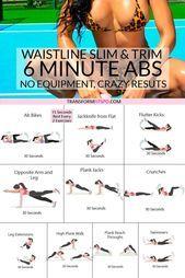 #6minütige #Abnehmen #Awesome #Bauchmuskeltraining #das #Fitness #Frauen #für #Results #Trimmen #ult...