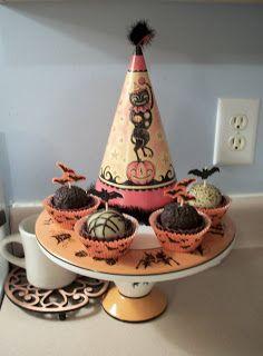 Vintage Halloween Decorations Halloween Cake Plate ...