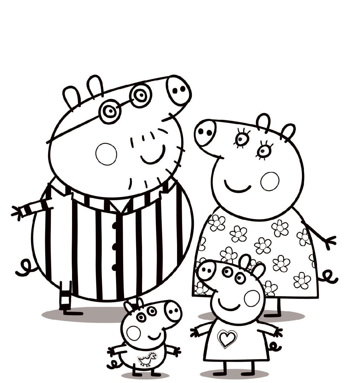 Give Your Favorite Peppa Pig Picture Some Color With Our Peppa Pig Coloring Pages Peppa Pig Coloring Pages Peppa Pig Colouring Christmas Present Coloring Pages