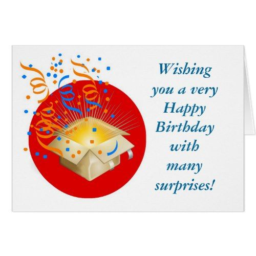 Happy Birthday With Gift Box Surprise Card Happy Birthday