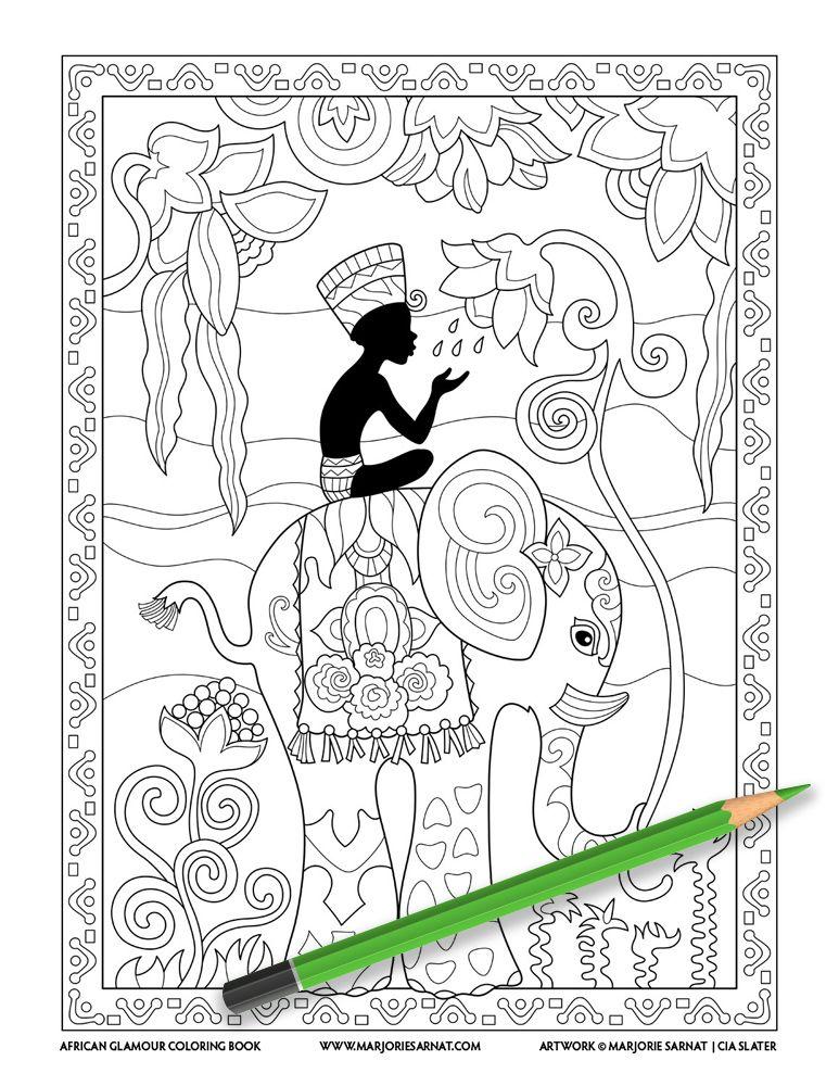 African Glamour — Marjorie Sarnat Design Illustration in