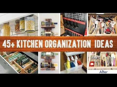1) 45+ Small Kitchen Organization And DIY Storage Ideas - YouTube