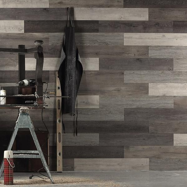 Scrap Wood Look Peel And Stick Wall Planks Cool Wood