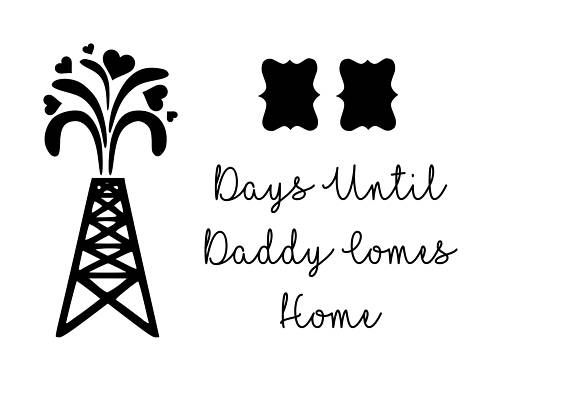 Download Oilfield Daddy Countdown SVG | Svg, Oilfield, Countdown