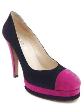 Chanel Suede Pink Cc Cap Toe Classic Platform Black Pumps. Get the must-have pumps of this season! These Chanel Suede Pink Cc Cap Toe Classic Platform Black Pumps are a top 10 member favorite on Tradesy. Save on yours before they're sold out!