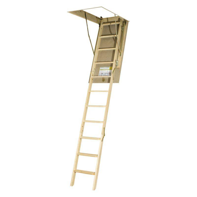 Fakro 10 1 Ft Wooden Attic Ladder 66850 Attic Renovation Attic Remodel Attic Flooring