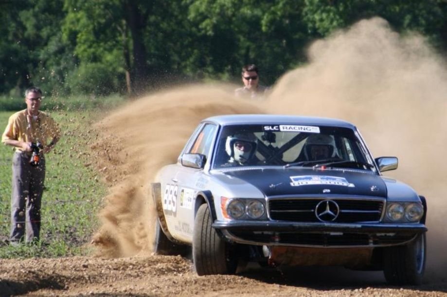 Mercedes rally car. This is the legendary Merc W107, SLC. Probably ...