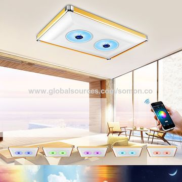 Access Forbidden Led Ceiling Lamp App Control Music Speakers