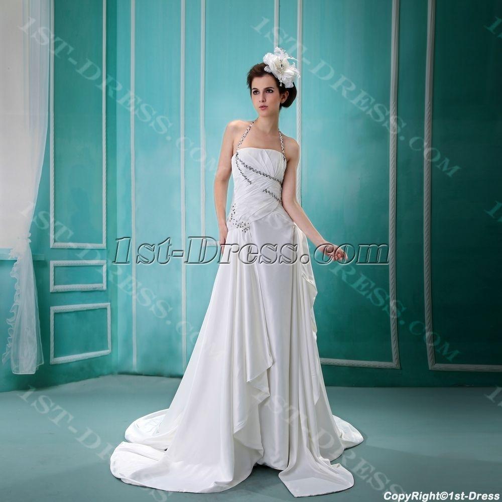 1st-dress.com Offers High Quality Empire Halter Chiffon Wedding ...