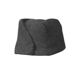 WARPED CAP/mix charcoal  -  kamilavka