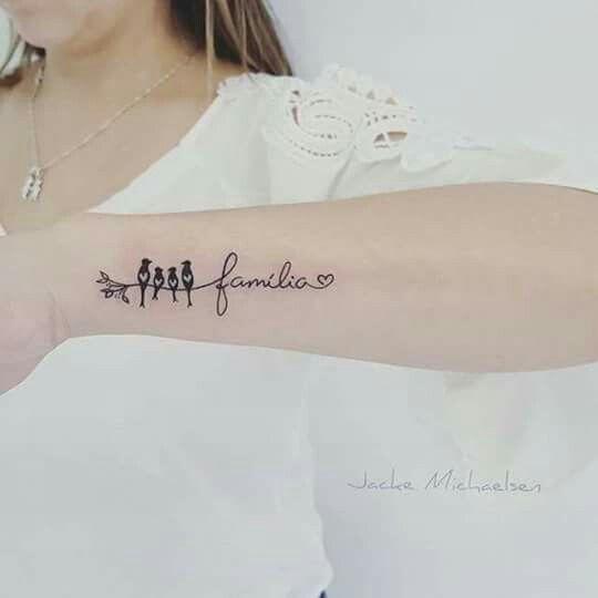 Tatuajes De Familia De 4 Pajaros