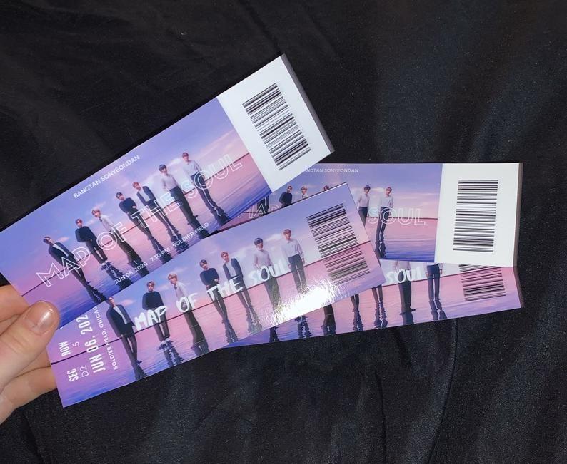 BTS 2020 Personalized Concert Ticket Memorabilia BTS