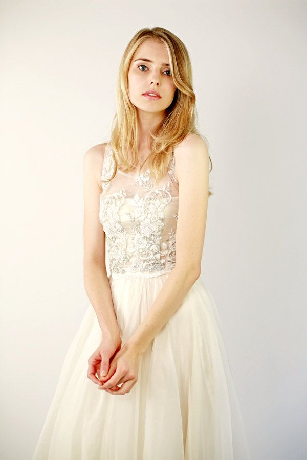Beaded Lace Wedding Top Separate Fontaine Sleeveless By Leanimal On Etsy