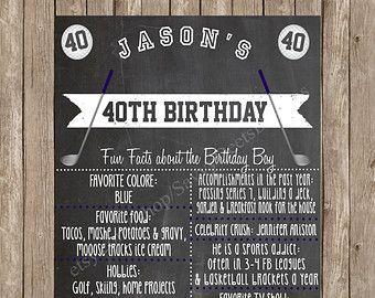 Printable Birthday Facts ~ Custom chalkboard breakfast at tiffanys inspired printable birthday