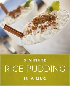 5 Minute Rice Pudding In A Mug