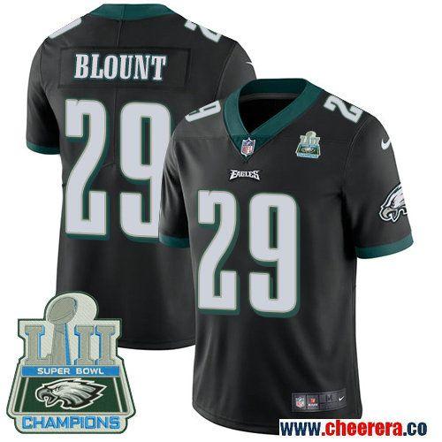 Men's Nike Philadelphia Eagles #29 LeGarrette Blount Black Alternate Super Bowl LII NFL Vapor Untouchable Elite Jersey