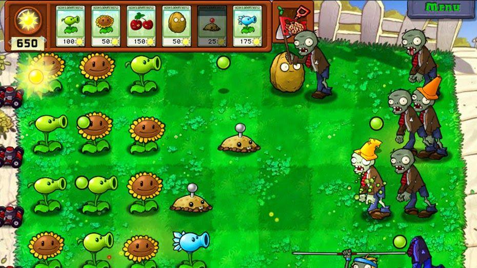 Plantas Vs Zombis 1 Free Grátis Hardwareysoftware Zombis Planta Vs Zombis Plantas Contra Zombis