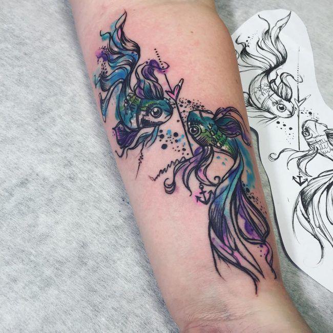 Tattoo Ideas Pisces: 30 Exquisite Pisces Tattoo Design Ideas