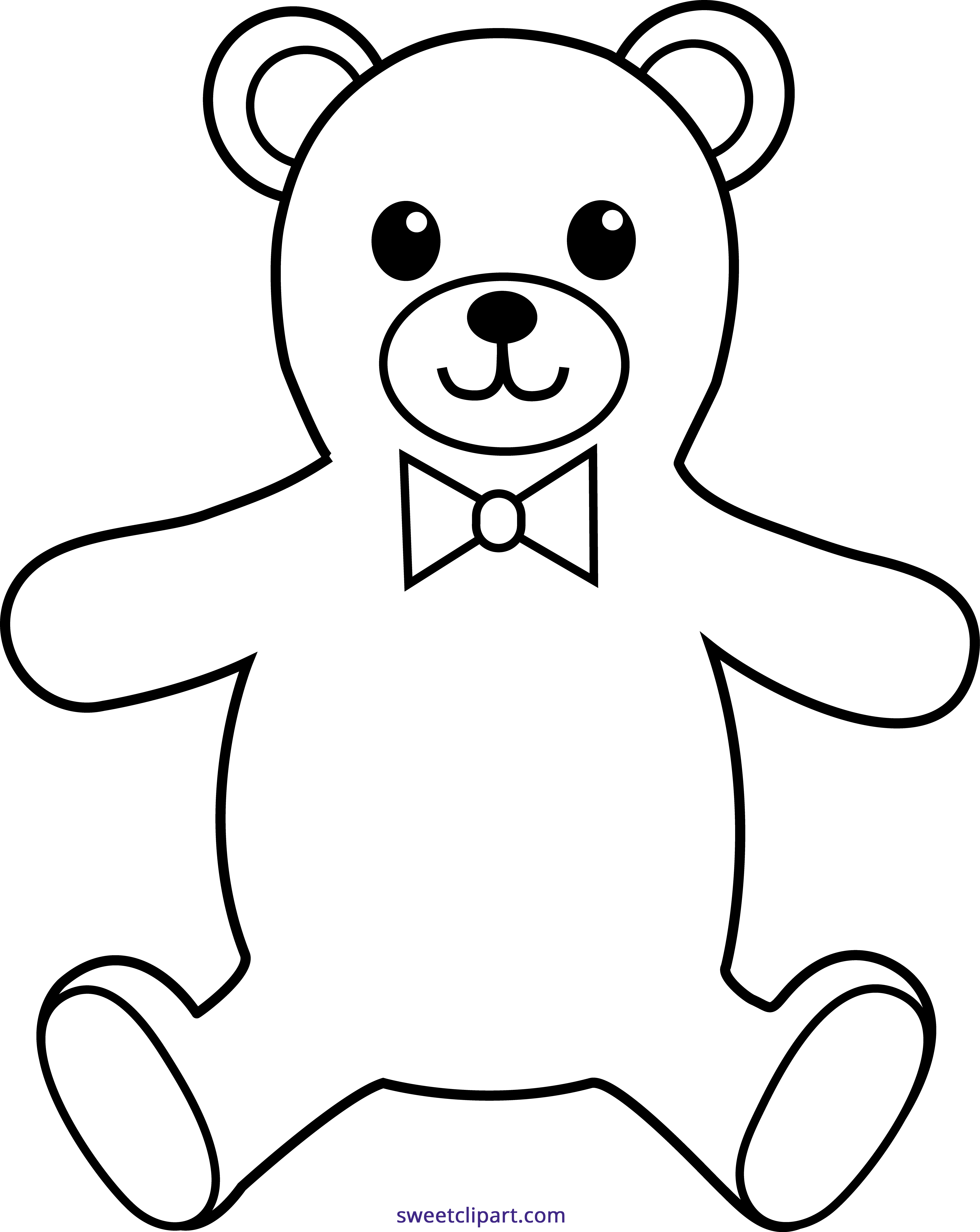 20+ Stuffed Animals Black And White Clipart