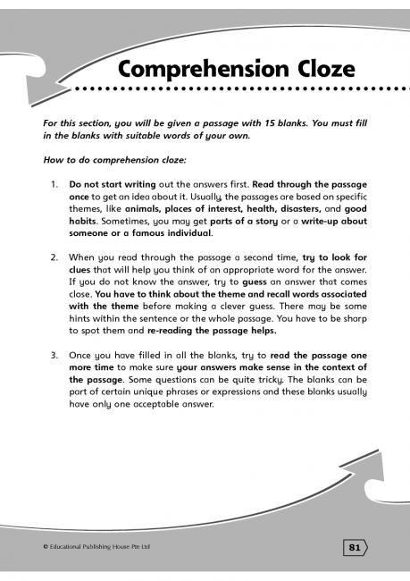 Assessment Cloze Assessment Found In Assessment For Reading