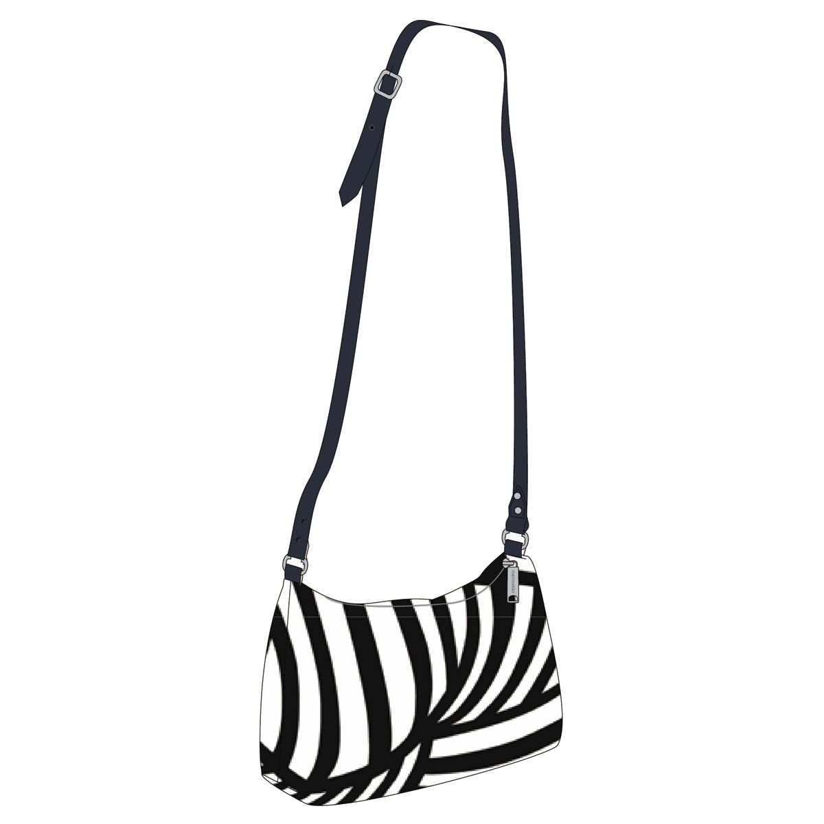 Marimekko Salme Black White Veronika Bag