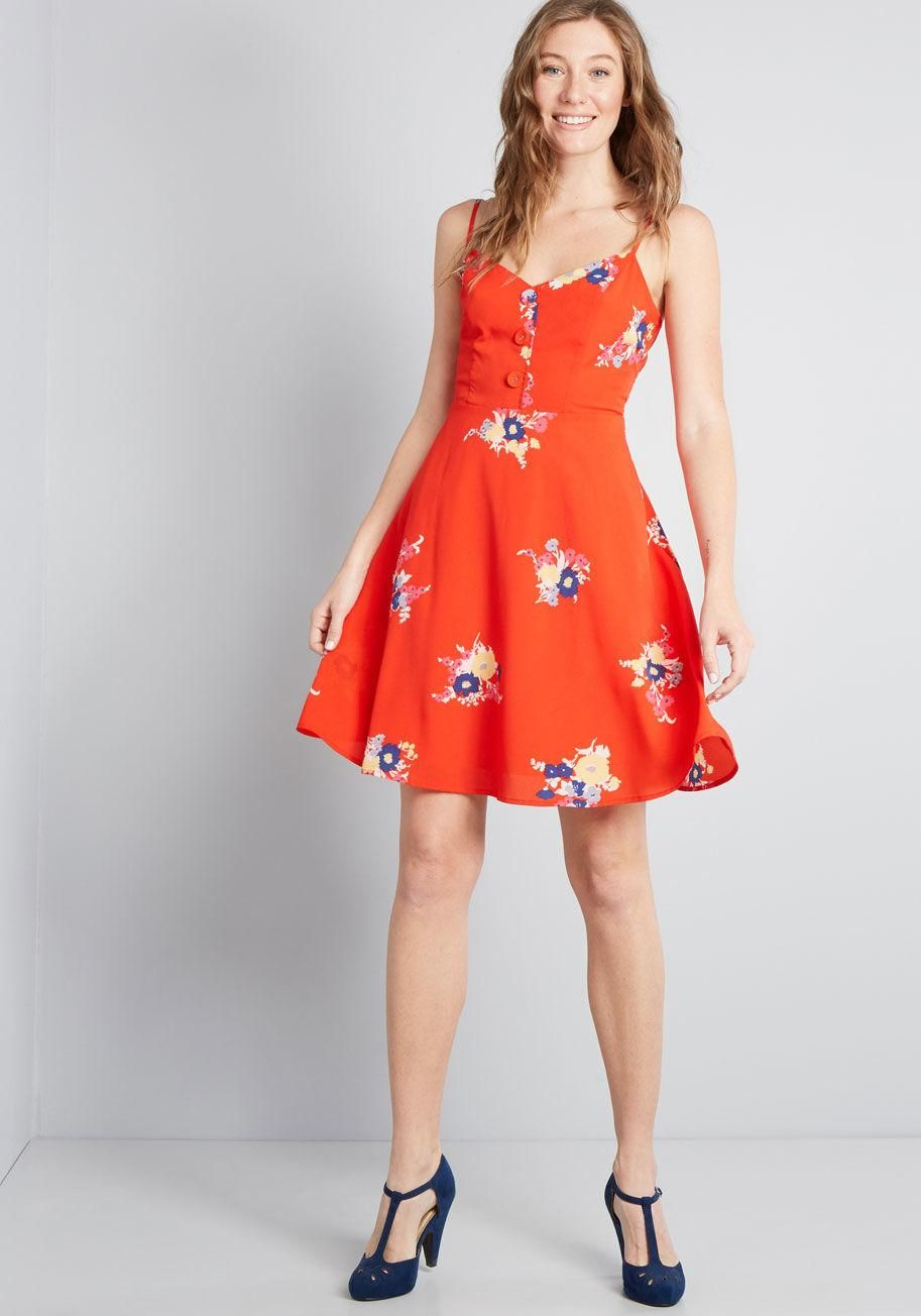 6a956e5bd789 Living Lightheartedly Sundress With this bright red sundress styled on your  frame, new friends will