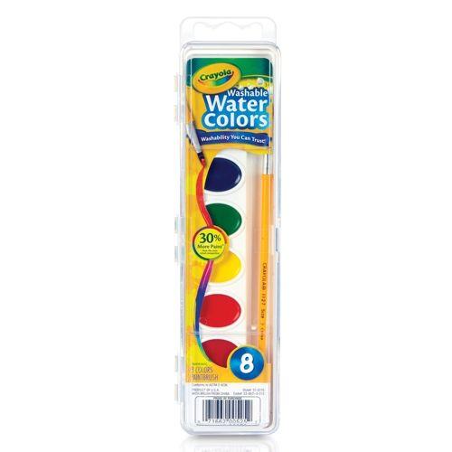 Washable Watercolor Sets Crayola 8 Colors Bin530525