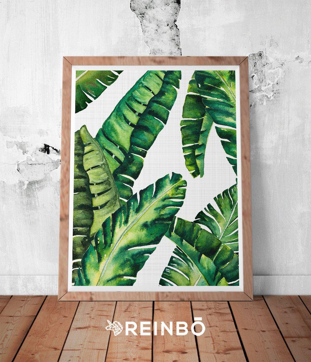 Banana Leaves, Banana Leaf Print, Palm Wall Decor, Tropical Leaves ...