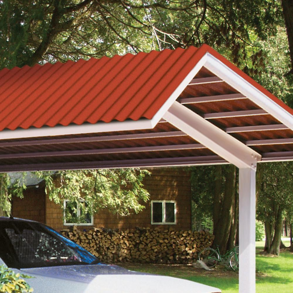 Suntop 26 In X 8 Ft Foamed Polycarbonate Roofing Panel In Sedona Brick 108971 The Home Depot Corrugated Roofing Roof Panels Fibreglass Roof