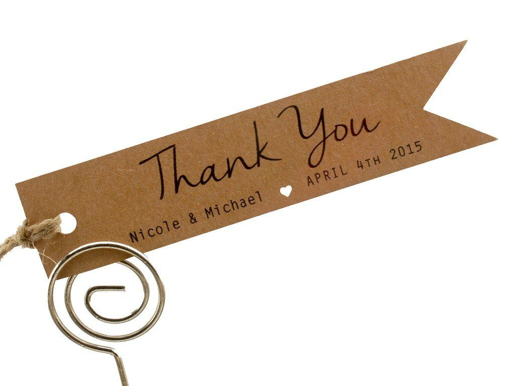 Summer-Ray.com 50 Personalized Mini Kraft Wedding Favor Gift Tags ...