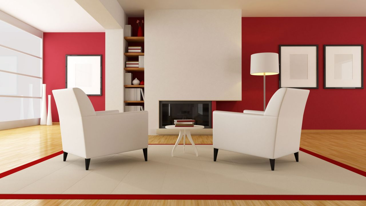 como pintar salon con chimenea y sofa negro - Buscar con Google ...