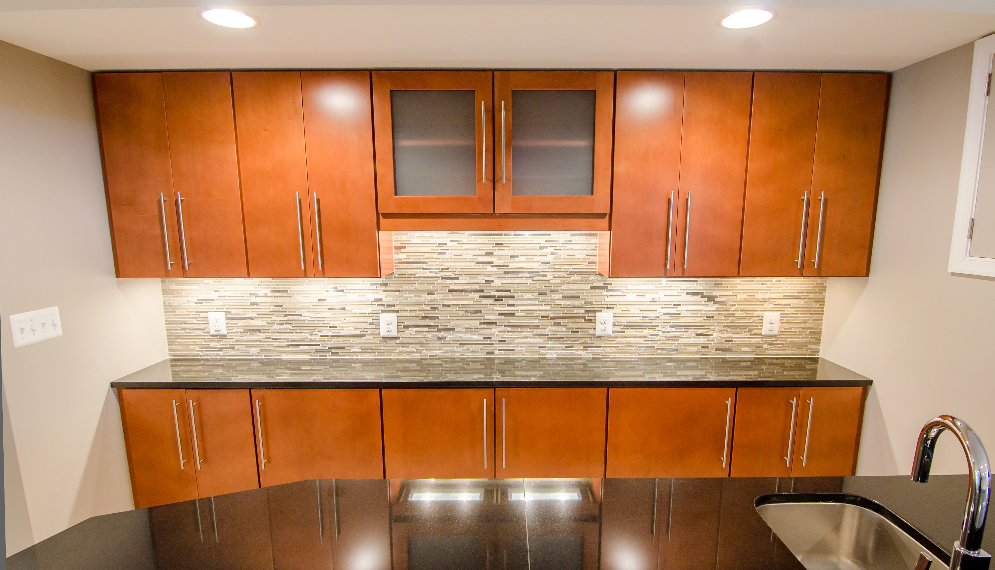 timberlake lausanne in maple cognac glaze kitchen cabinets