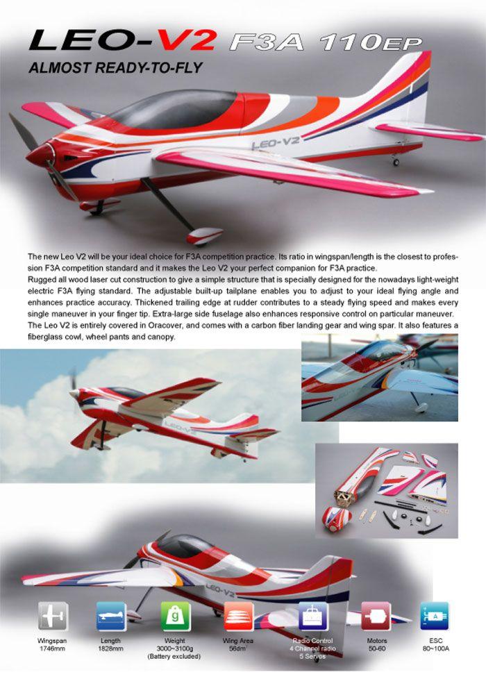Nitroplane Leo V2 Sport Aerobatic Pattern Plane Kit 1746mm Wingspan