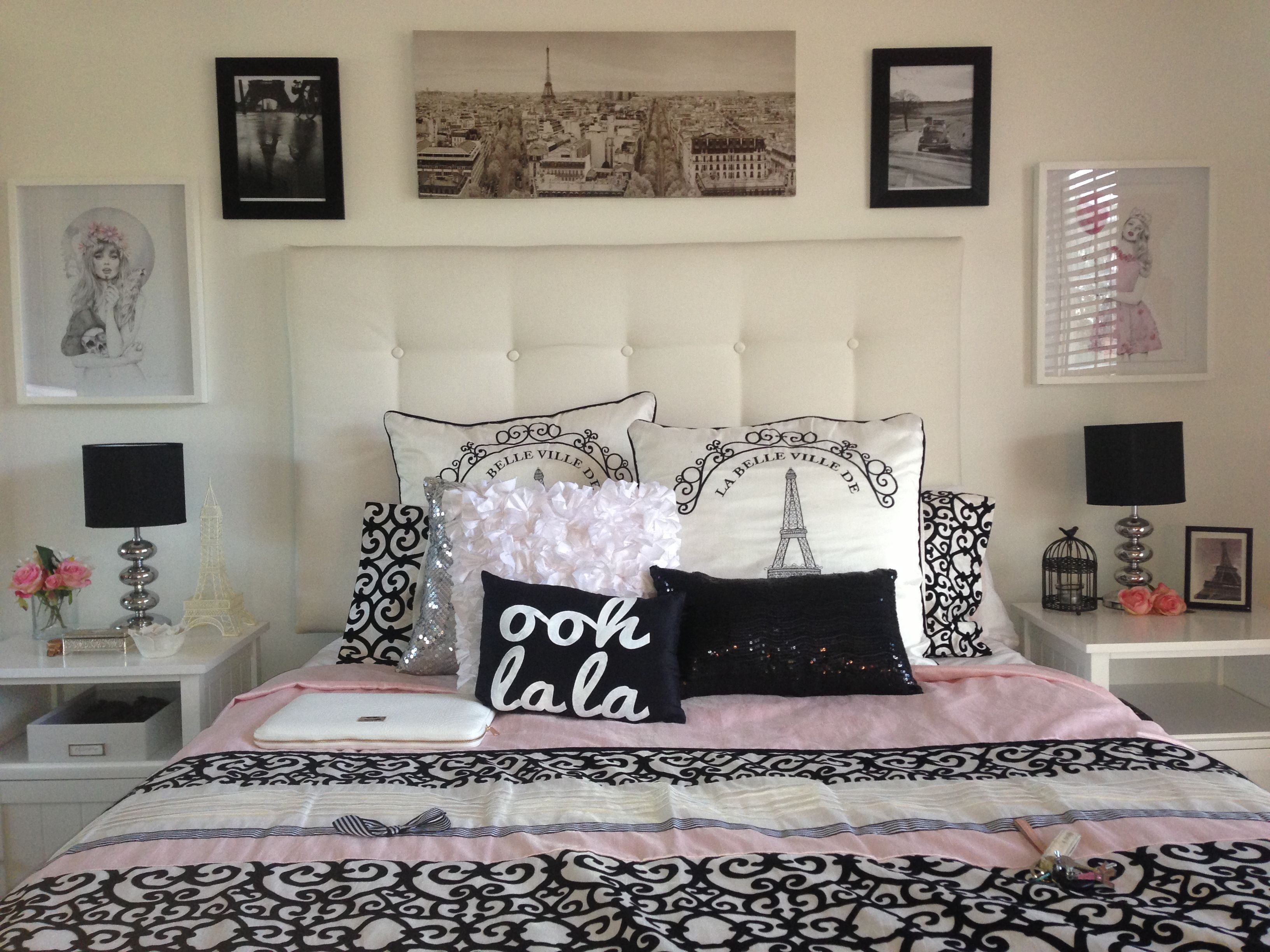 I love this overall idea for a bedroom. Especially the pillows ...