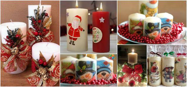 9 Hermosas Ideas Muy Faciles Para Decorar Velas Navidenas Candles - Ideas-para-decorar-velas