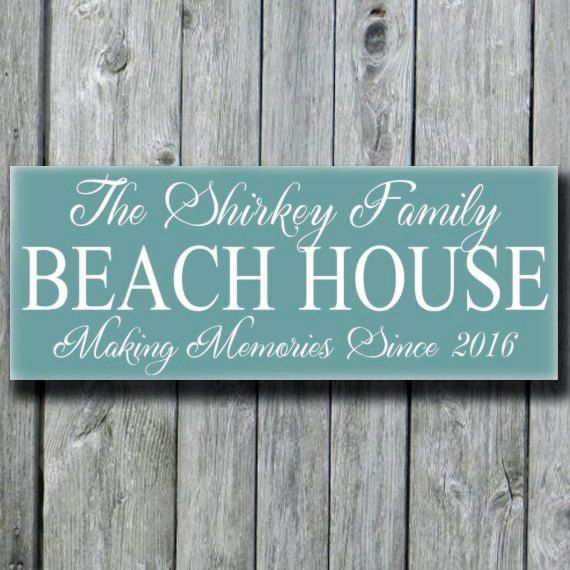 Beach House Decor Signspersonalized Beach House Family Name Etsy