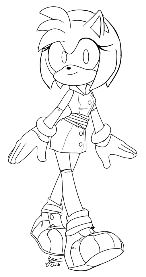 Boom amy (free to color it) by Pandalana on DeviantArt | Amy Rose ...