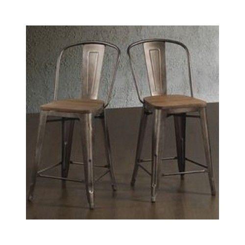 Rustic Bar Stools Industrial Wood Metal Kitchen Counter Height New Kitchen Counter Bar Stools Decorating Inspiration