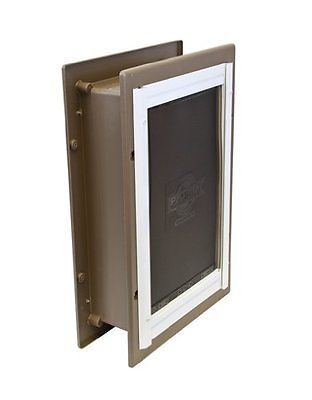 Pet Door Entry Wall Dog Cat Flap Way Safe Lockable Tunnel Large