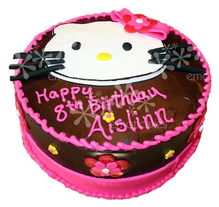 10 Round Birthday Cake From Emoticakes Com Chocolate Cake With