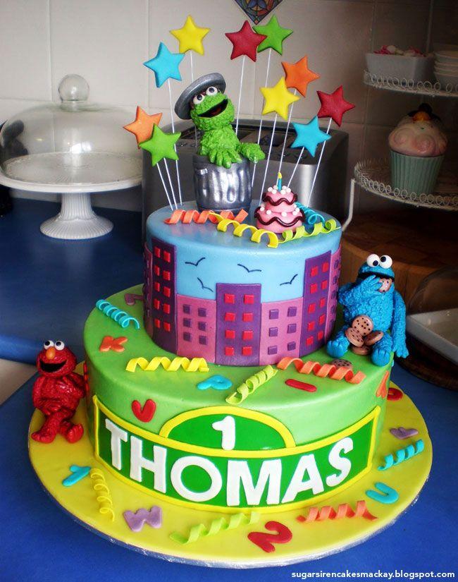 Best Sesame Street cakes and cupcakes Sesame street cake Sesame