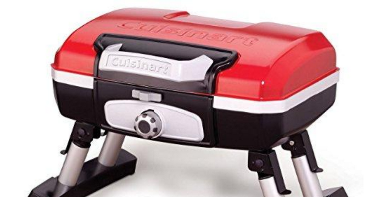 Cuisinart CGG-180T Petit Gourmet Portable Tabletop Gas Grill, Red ...