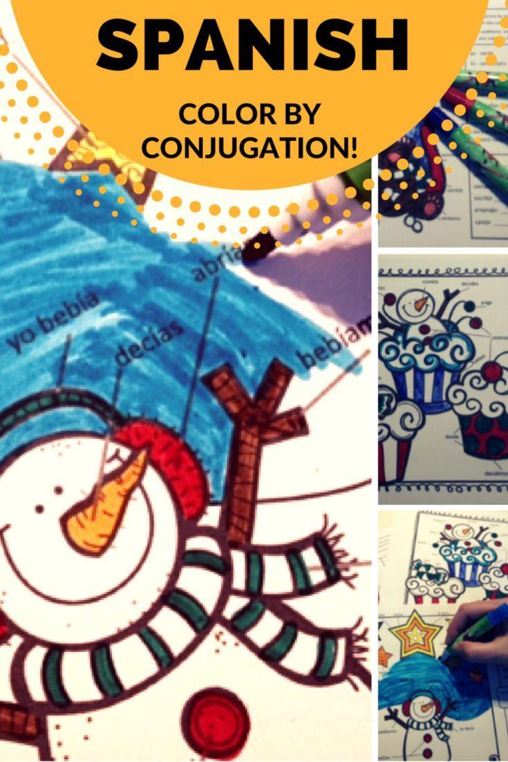 La Profesora Frida\'s Color By Conjugation for Winter ...