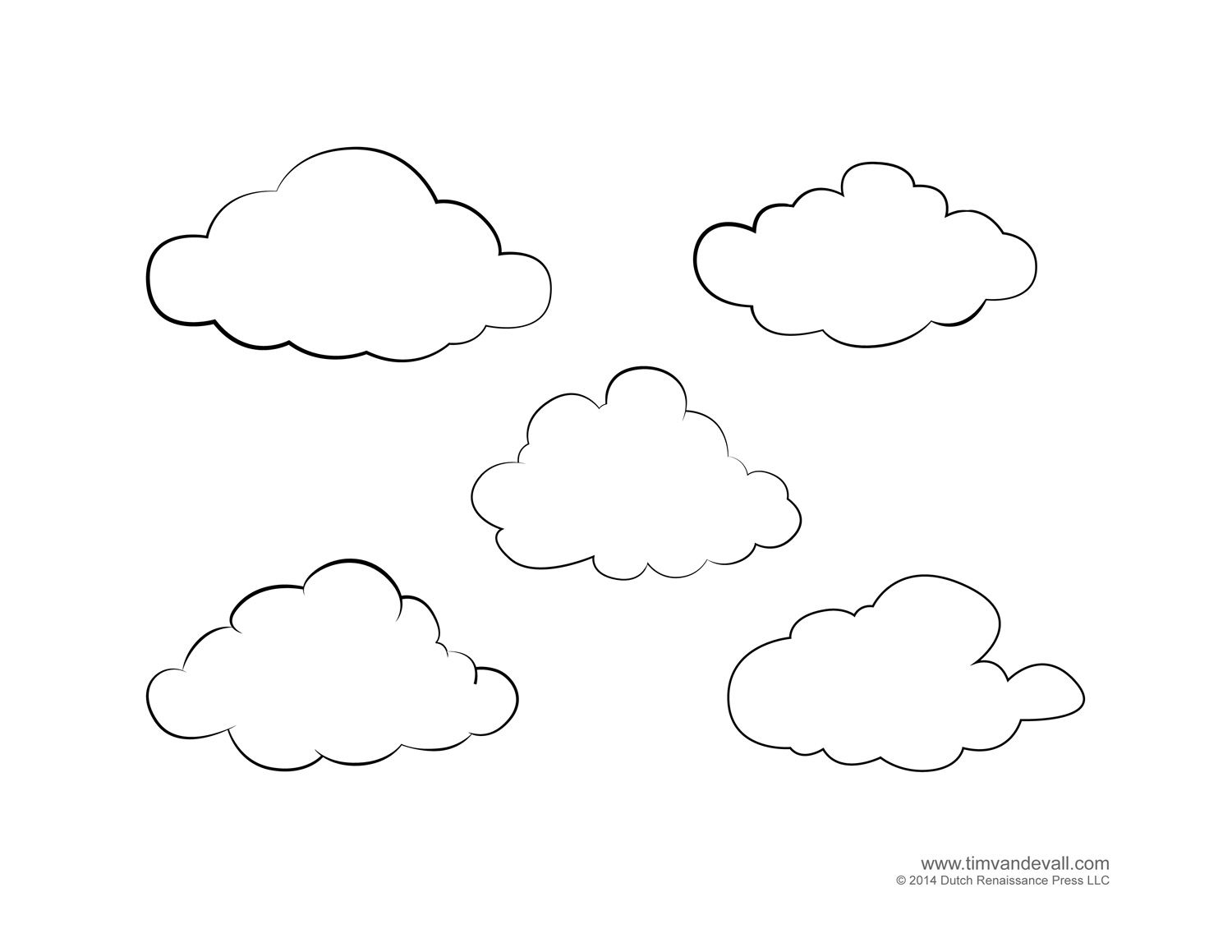 Weather For Kids Free Cloud Templates And Weather Coloring Pages Cloud Template Free Coloring Pages Clouds Printable