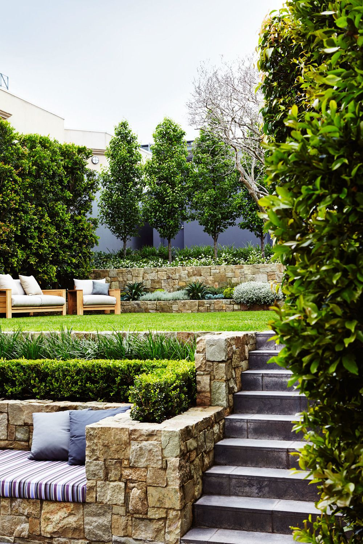 Terracing Mosman Landscape Design: Outdoor Establishments ... on Terraced Yard Landscape Ideas id=25801