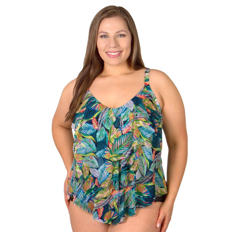 029058a71b0 Triple Tier Plus Size Swimwear Top from Mazu