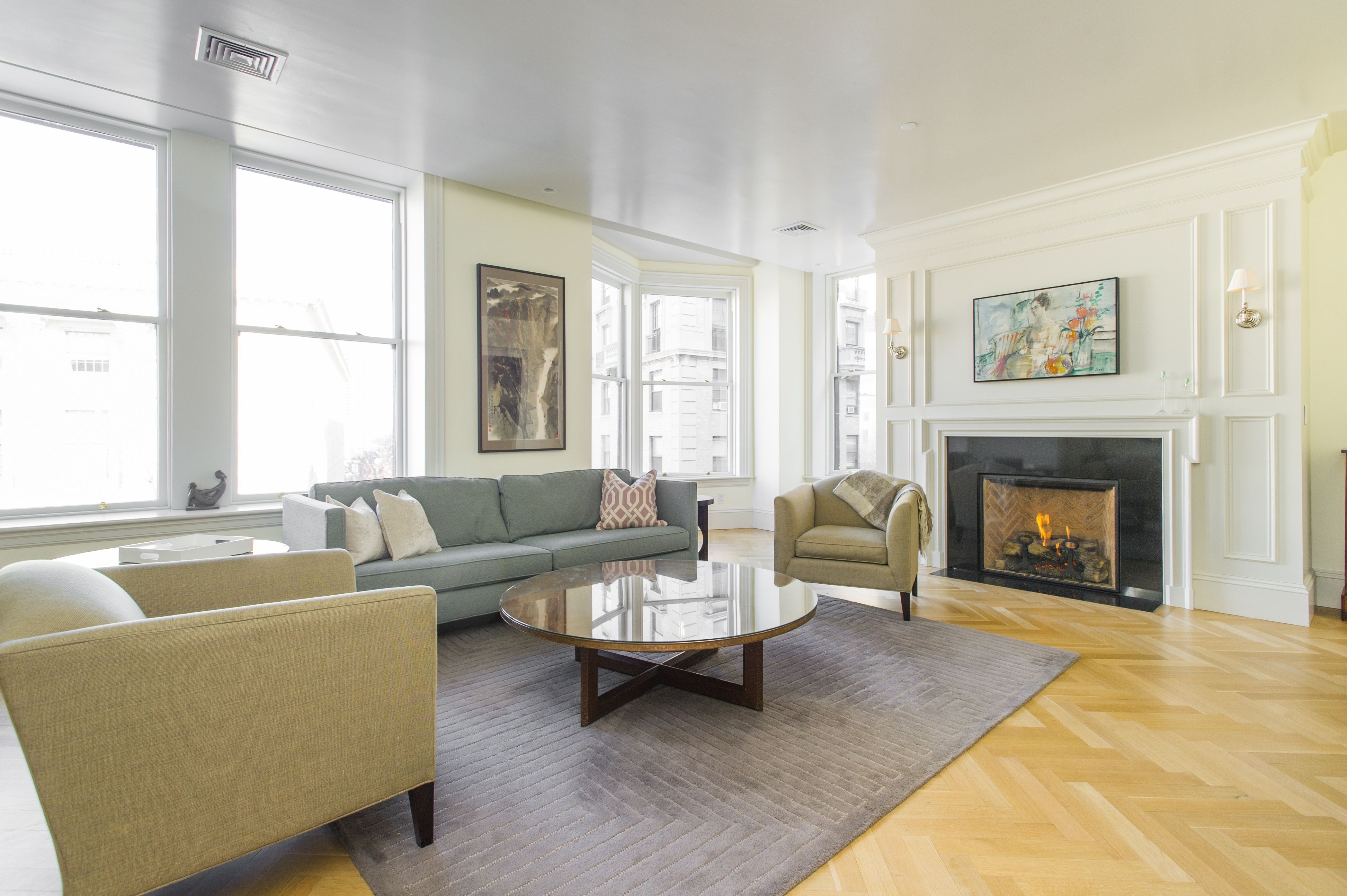 today would be a day to sit by that #fireplace #backbay #hardwoodfloors