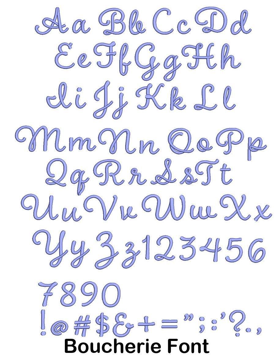 Boucherie font math math equations