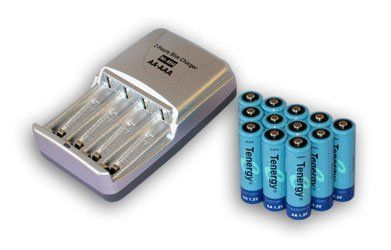 T-3150 Ultra Fast Charger with 12 Tenergy AA 2600 mAh NiMH ...