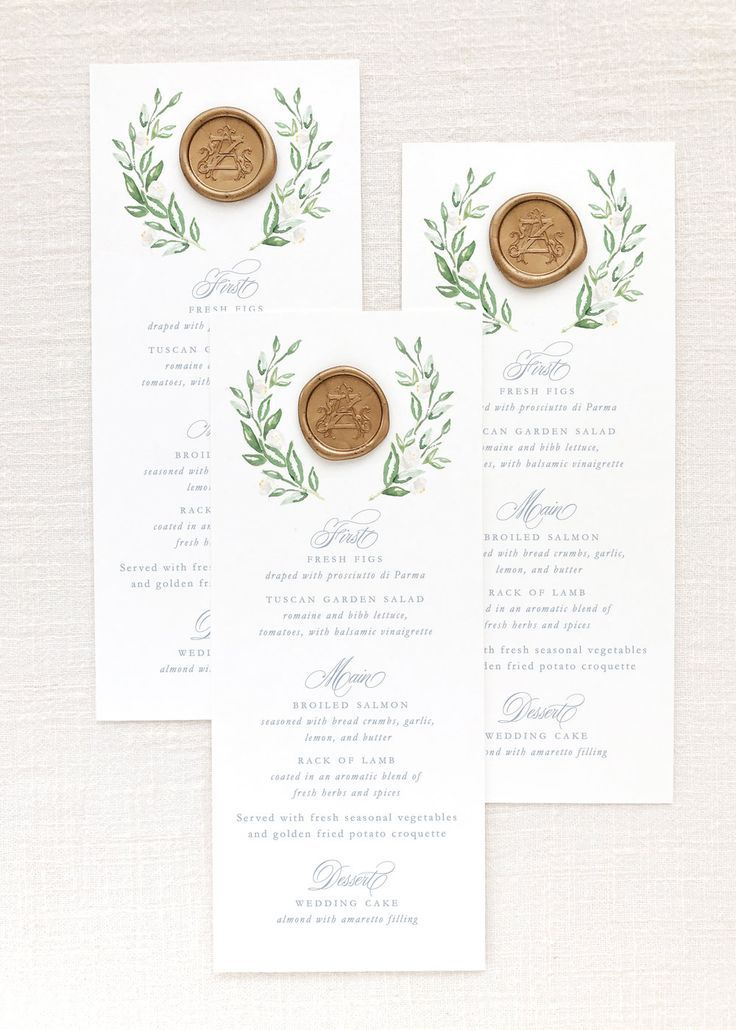 Self-Adhesive Wax Seals #weddingmenuideas